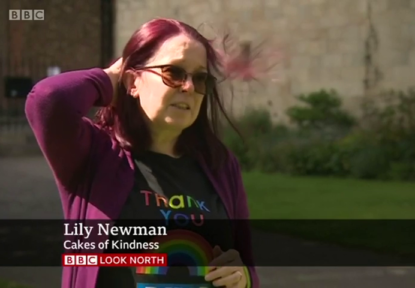 BBC Look North – Lily Newman Delivers 10,000th Cake of Kindness
